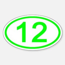 Number 12 Oval Oval Decal
