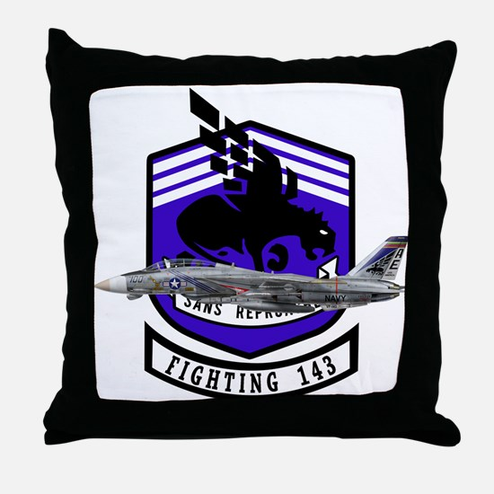 VF-143 Pukin' Dogs Throw Pillow