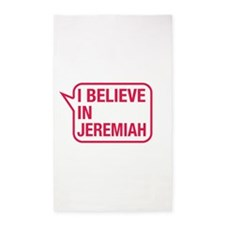 I Believe In Jeremiah 3'x5' Area Rug