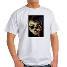 Skull and Rose Ash Grey T-Shirt