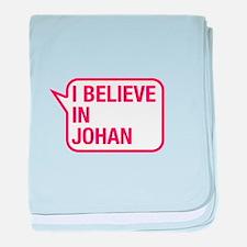 I Believe In Johan baby blanket