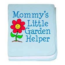 Mommys Garden Helper baby blanket