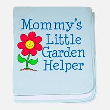 Mommys Garden Helper baby blanket