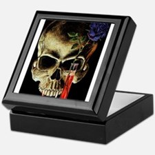 Skull and Rose Keepsake Box