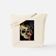 Skull and Rose Tote Bag