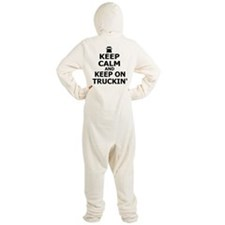Keep Calm and Keep Truckin' Footed Pajamas