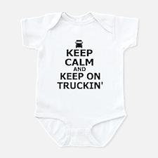 Keep Calm and Keep Truckin' Infant Bodysuit