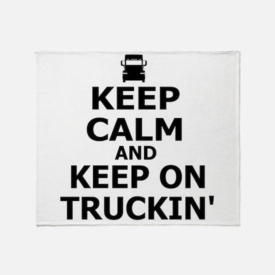 Keep Calm and Keep Truckin' Throw Blanket