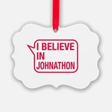 I Believe In Johnathon Ornament