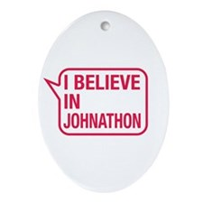 I Believe In Johnathon Ornament (Oval)