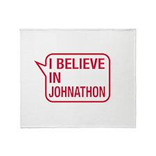 I Believe In Johnathon Throw Blanket
