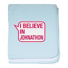 I Believe In Johnathon baby blanket