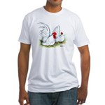 White Japanese Bantams Fitted T-Shirt