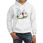 White Japanese Bantams Hooded Sweatshirt