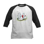 White Japanese Bantams Kids Baseball Jersey