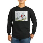 White Japanese Bantams Long Sleeve Dark T-Shirt