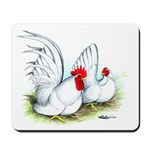 White Japanese Bantams Mousepad