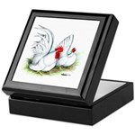 White Japanese Bantams Keepsake Box