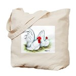 White Japanese Bantams Tote Bag