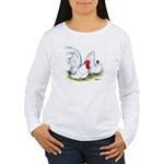 White Japanese Bantams Women's Long Sleeve T-Shirt