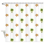 Beach Themed Design Shower Curtain