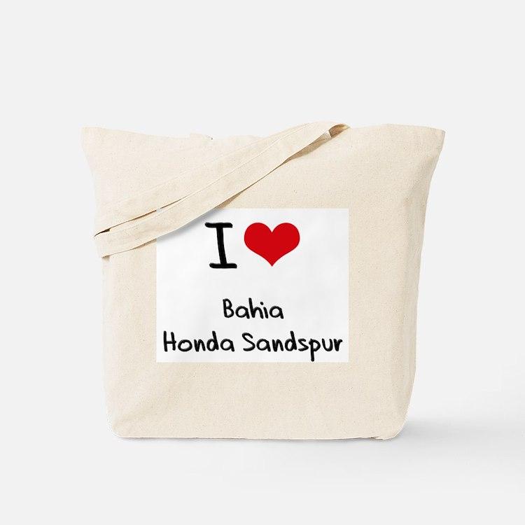 I Love BAHIA HONDA SANDSPUR Tote Bag