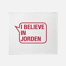 I Believe In Jorden Throw Blanket