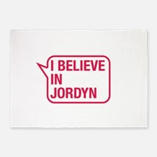 I Believe In Jordyn 5'x7'Area Rug
