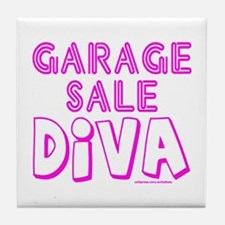 GARAGE SALE DIVA Tile Coaster