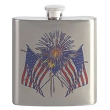 Celebrate America fireworks Flask