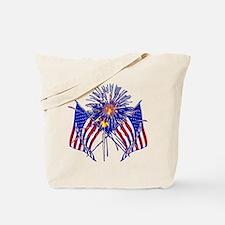 Celebrate America fireworks Tote Bag