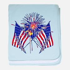 Celebrate America fireworks baby blanket