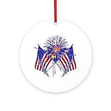 Celebrate America fireworks Ornament (Round)