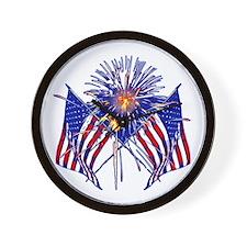 Celebrate America fireworks Wall Clock