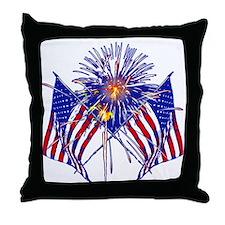 Celebrate America fireworks Throw Pillow