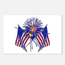 Celebrate America fireworks Postcards (Package of