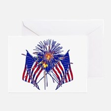 Celebrate America fireworks Greeting Cards (Pk of
