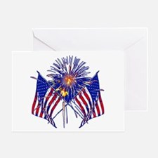 Celebrate America fireworks Greeting Card