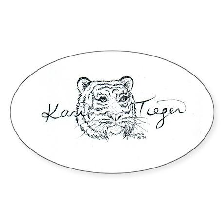 Sticker of Kari Tieger Logo (Oval)