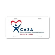 CASA Logo (Horizontal) Aluminum License Plate