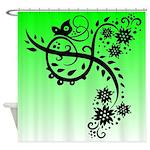 Floral Butterfly Art Design Shower Curtain