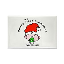 Baby's first christmas snarky Rectangle Magnet