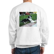 Sweatshirt with Adopted Pup on Back