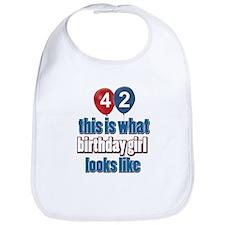 42 year old birthday girl designs Bib