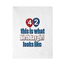 42 year old birthday girl designs Twin Duvet