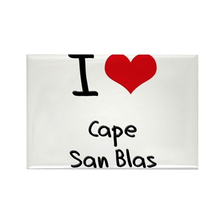 I Love CAPE SAN BLAS Rectangle Magnet