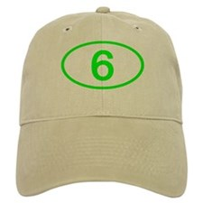 Number 6 Oval Baseball Cap