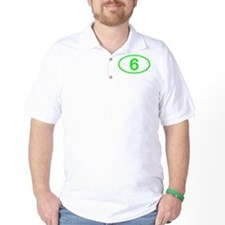 Number 6 Oval T-Shirt