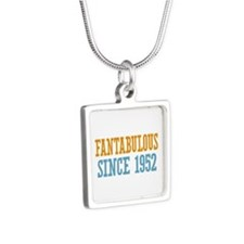 Fantabulous Since 1952 Silver Square Necklace
