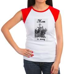 Mom to many Women's Cap Sleeve T-Shirt